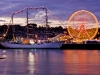 Tall Ship and Spinning Fairground Ride