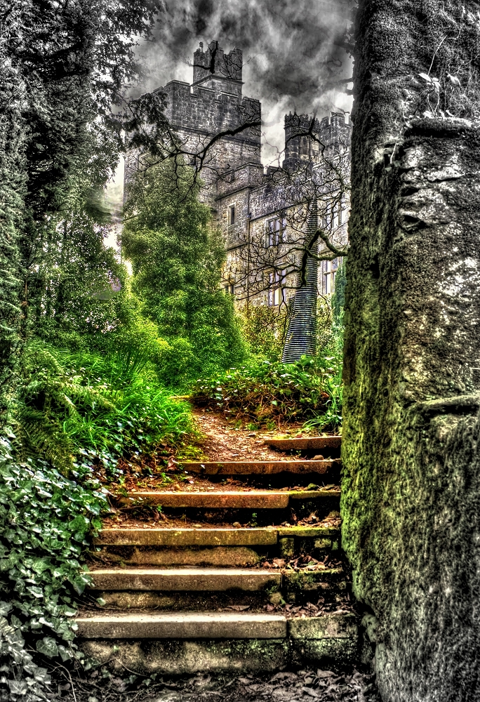 Focal Greyscale of Lismore Castle HDR - Photo of the Week, HDR of Lisore Castle, Co. Waterford