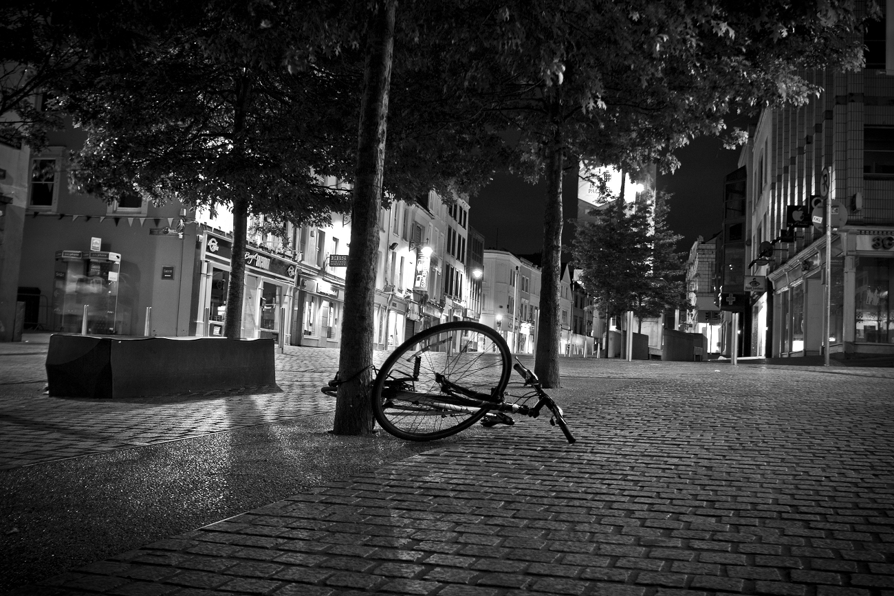 The Lonely Bike in Black and White - Photo of the Week