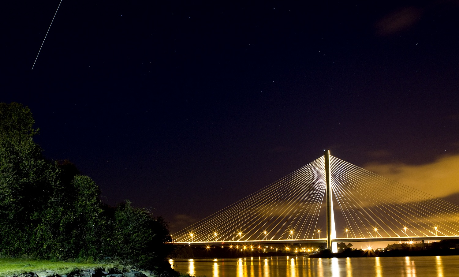 International Space Station Pictured over new Waterford Bridge
