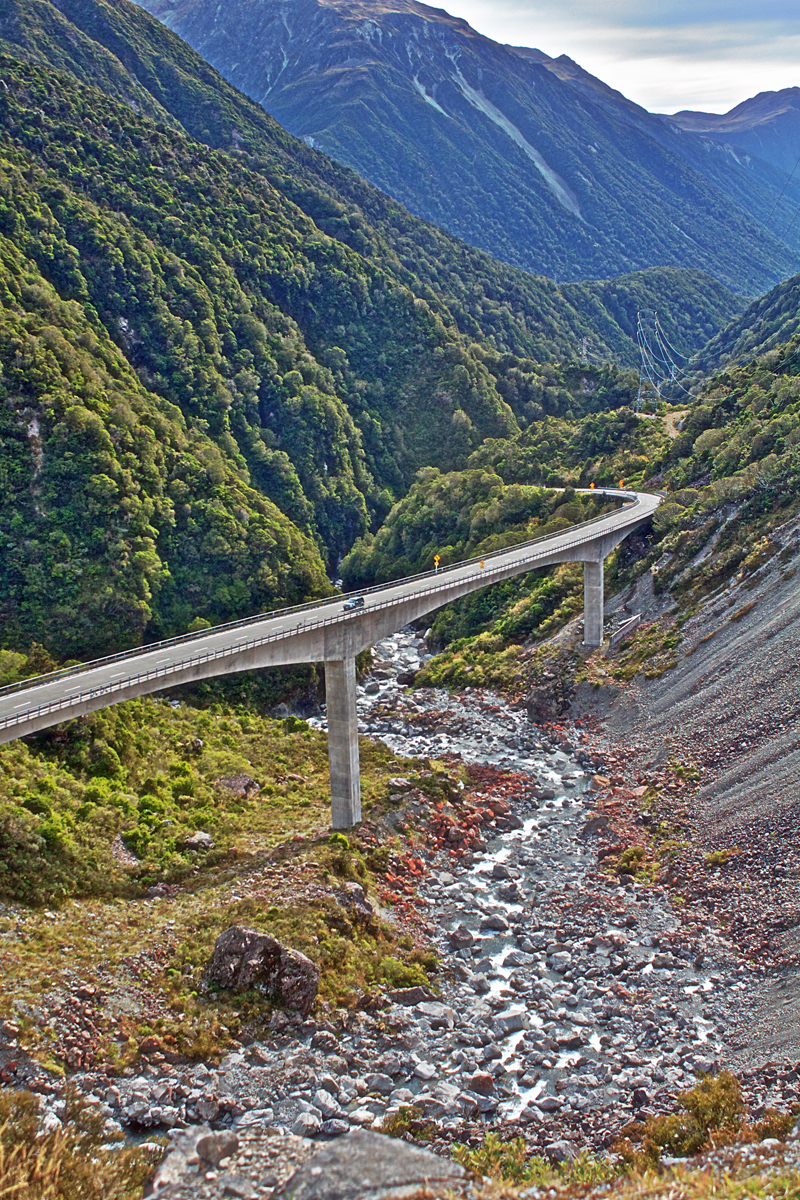 Arthurs Pass Viaduct - Arthurs Pass New, Zealand, Viaduct Road