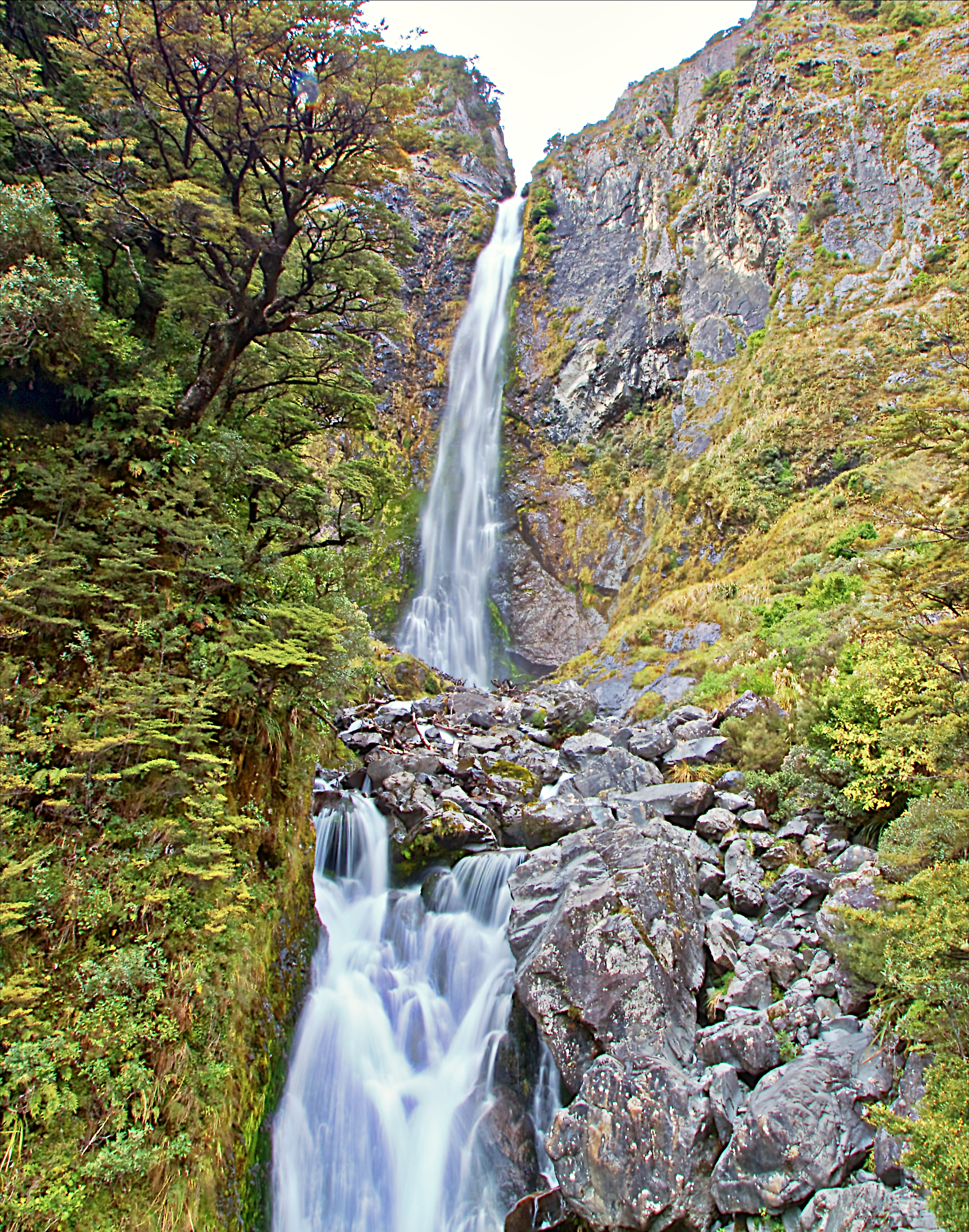 The Devils Punchbowl Waterfall, Arthurs Pass