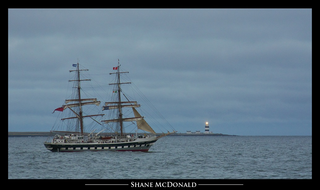 Tall Ship Stavros S Niarchos passing Hook Head