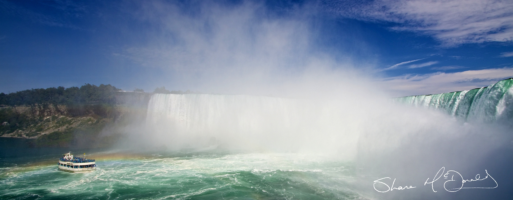 Niagara Falls, ON, Canada - Panoramic View of Niagara Falls Canada