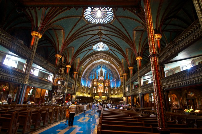 Inside Notre-Dame Basilica, place d'armes, Montreal , Canada