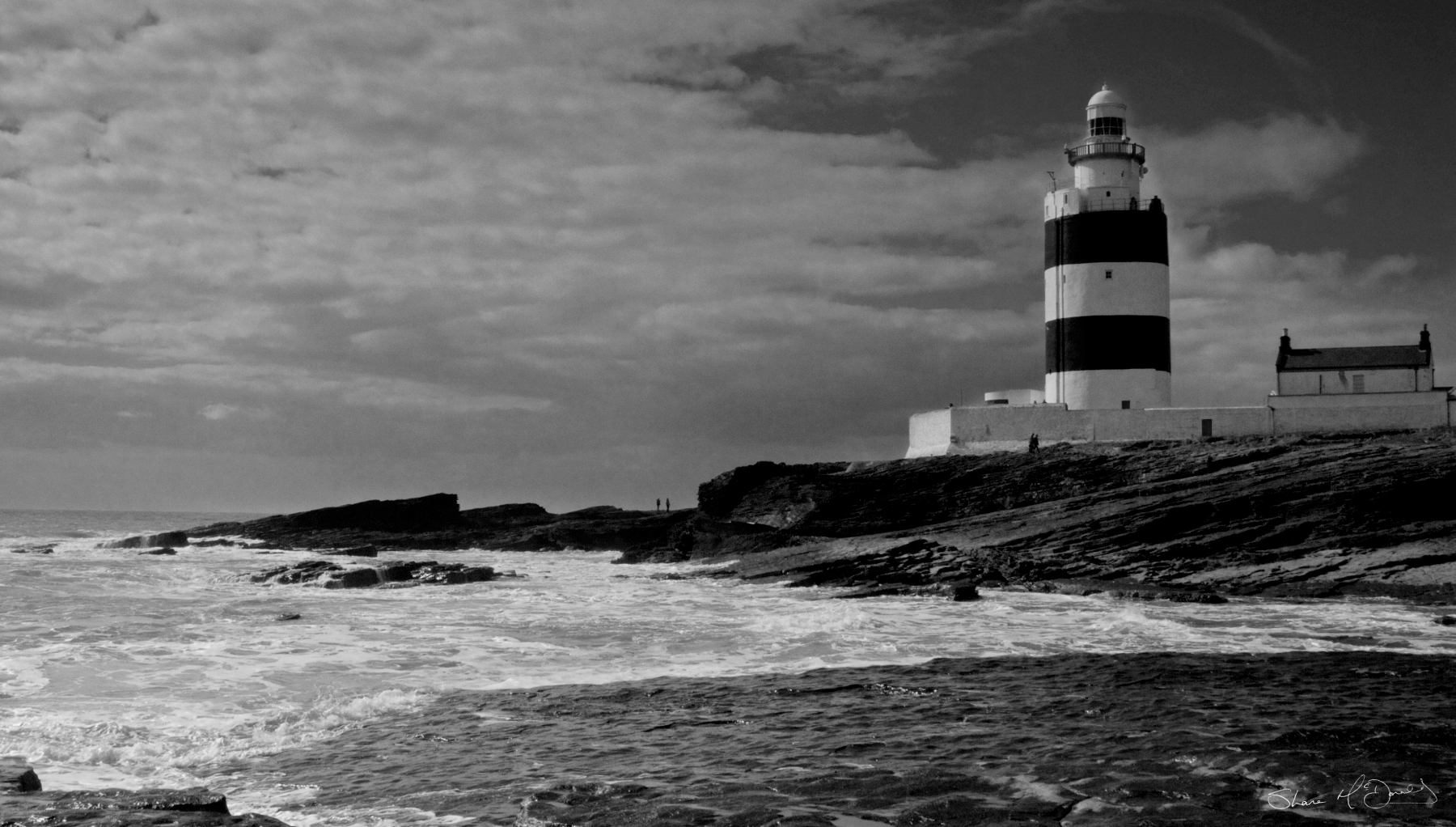 Hook Head, Co. Wexford - Black and White Photo