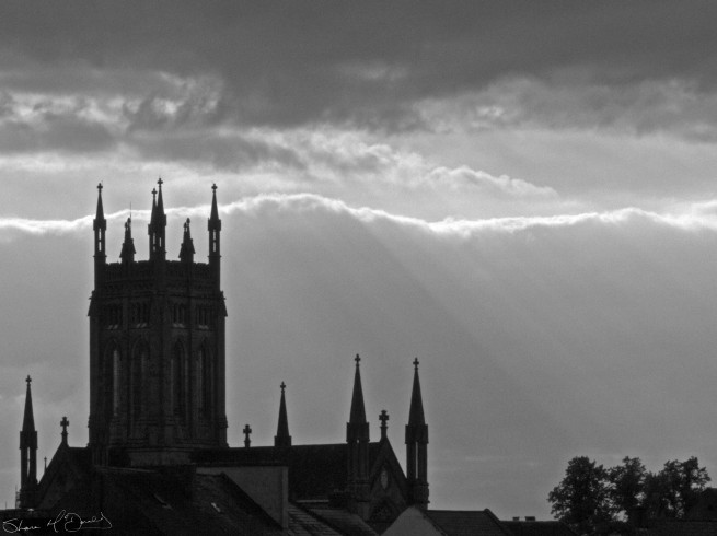 St. Marys Church / Cathedral in Sun Rays, Kilkenny