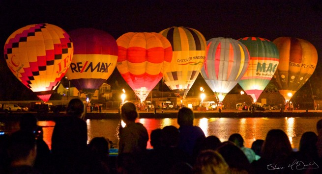 Irish Hot Air Ballooning Championships : Nightglow Waterford 1