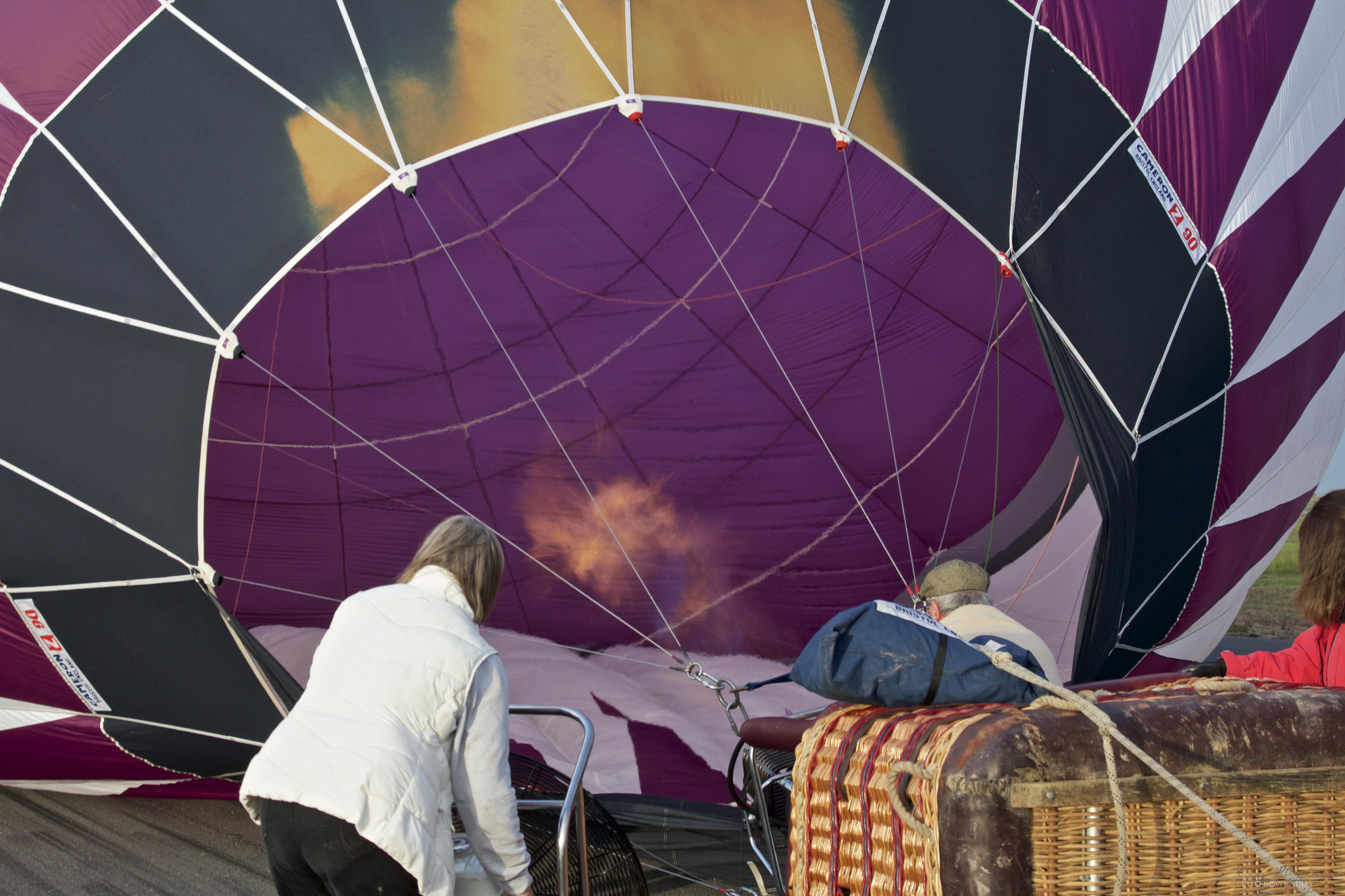 Irish Balloon Championships starting the propane