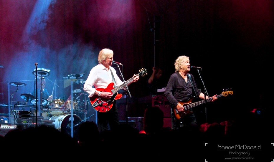 The Moody Blues performing at Glastonbury