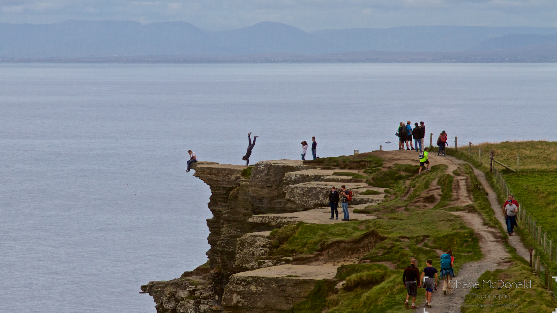 Cliffs of Moher, stupidity on the cliffs photographed by Shane McDonald Photography