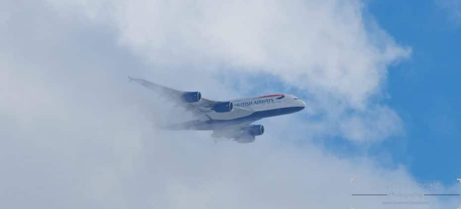 A380 Emerging from the clouds
