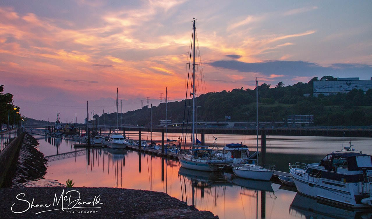 Waterford Quays, Ireland at Sunset - Landscape Photography
