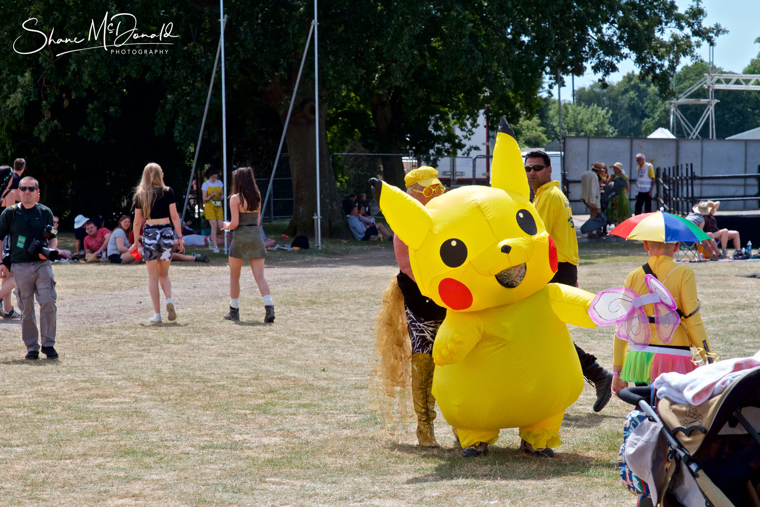 Picachu at the Isle of Wight Festival