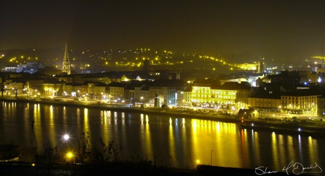 Shane McDonald Photography - Waterford City by Night taken from Ardree Hotel Waterford in 2005 winner of Imagine Arts Festival Photo Competition
