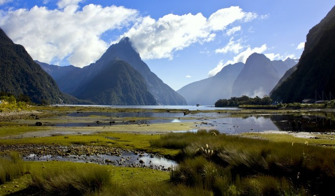 Milford Sound, New Zealand from Township