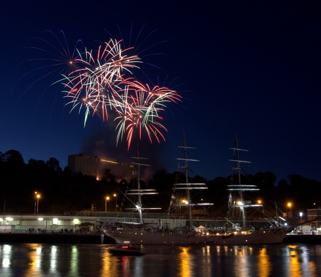 Fireworks at the Tall Ships Race 2011