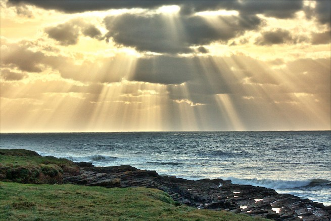 Hook Head Sunset / Sun Beams, Co. Wexford - Photo of the Week / Project 52