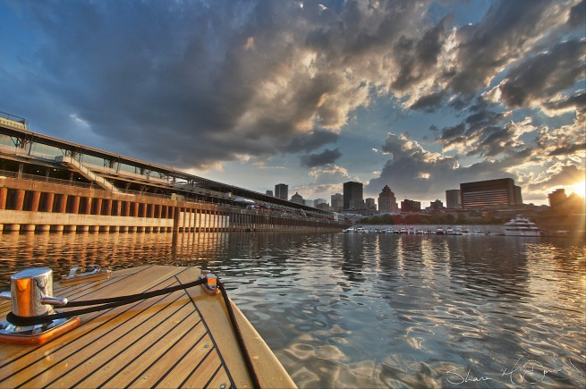 Montreal Harbour at Sunset 2