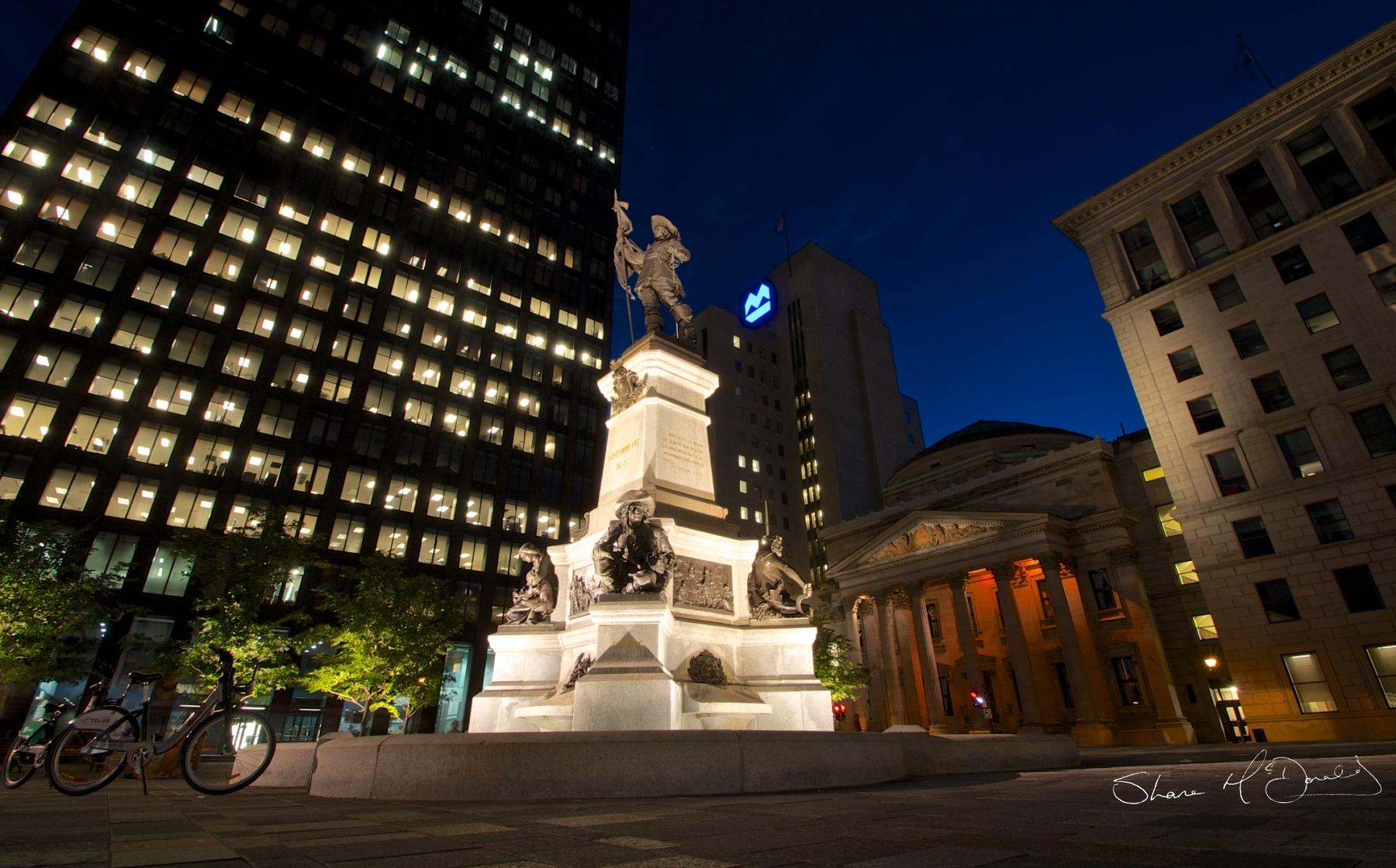 Place d'Armes Maisonneuve Monument,Montreal