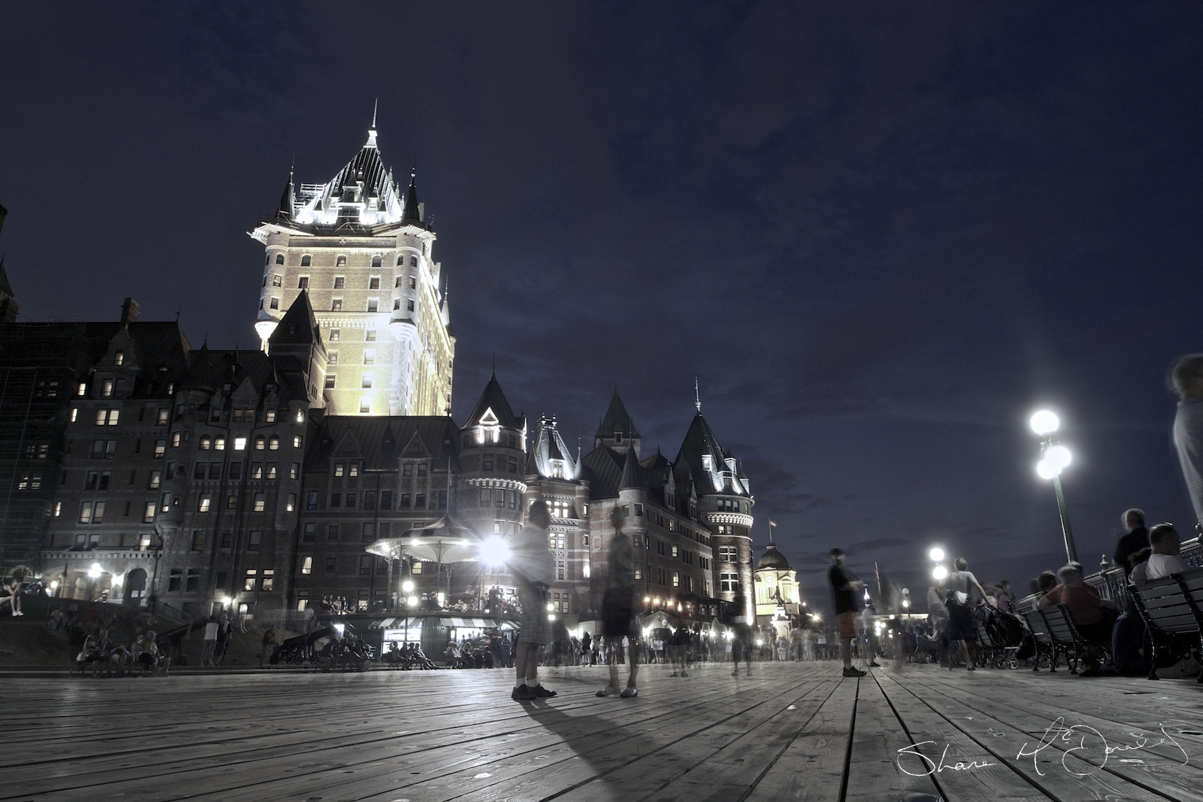 Quebec Boardwalk by Night