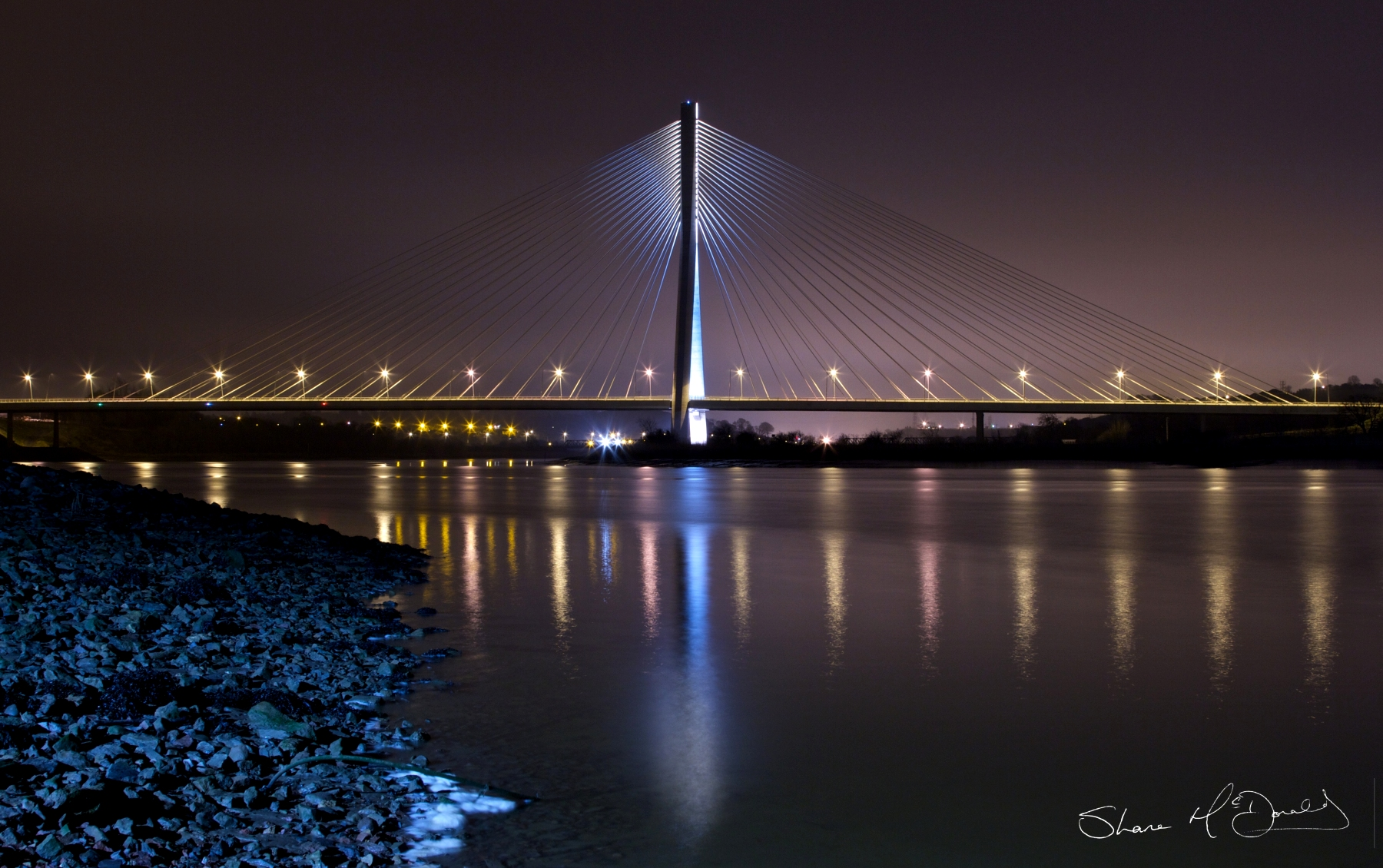 Waterford N25 Bridge at Night