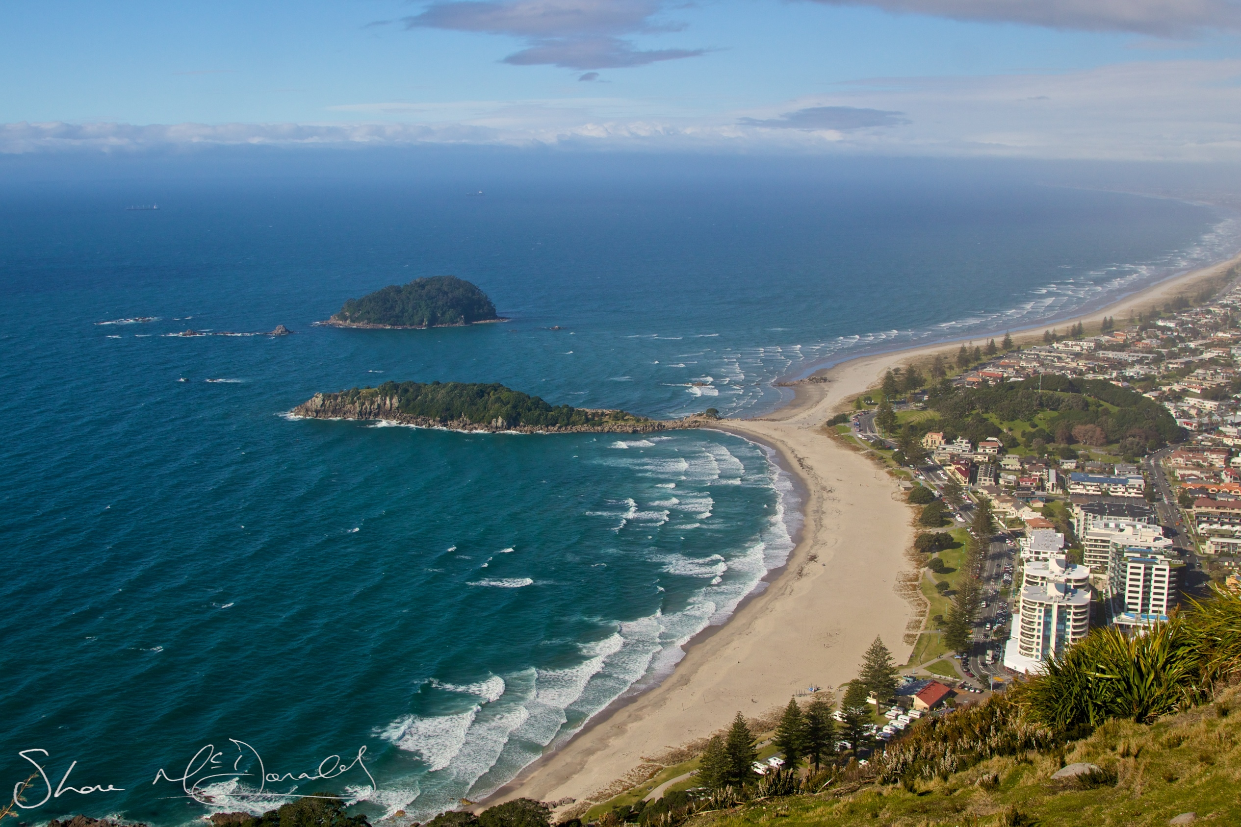 The view from Mount Maunganaui