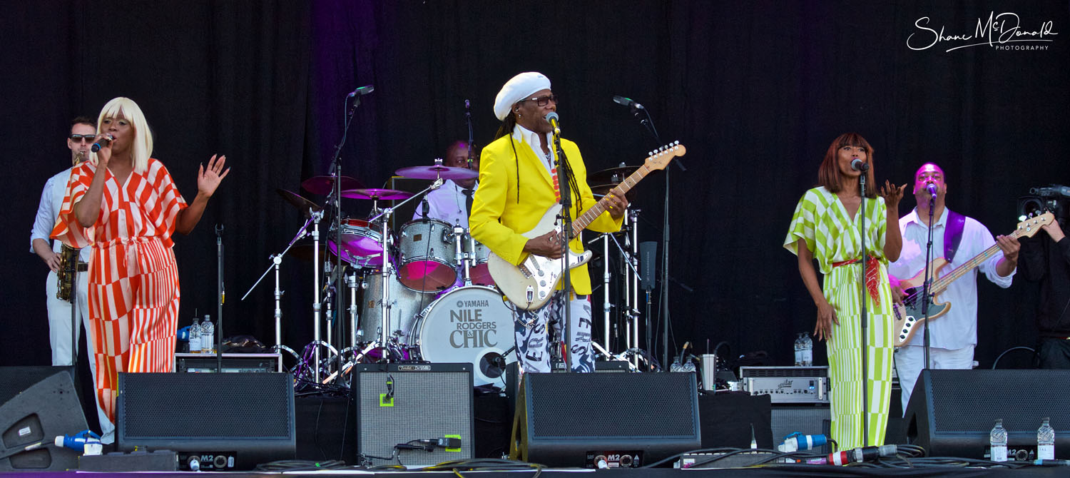 Nile Rodgers and Chic at the Isle of Wight Festival Group Shot
